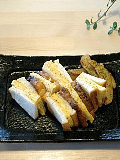 ふわふわの玉子サンド マヨネーズも手作りです